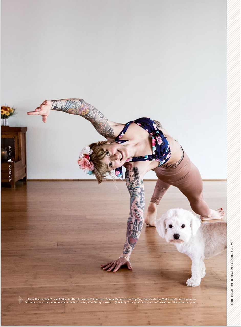 kickassyoga flip dog 2016 by bella schwarz