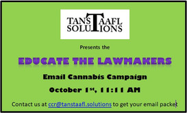 Educate the Lawmakers Email Cannabis Campaign