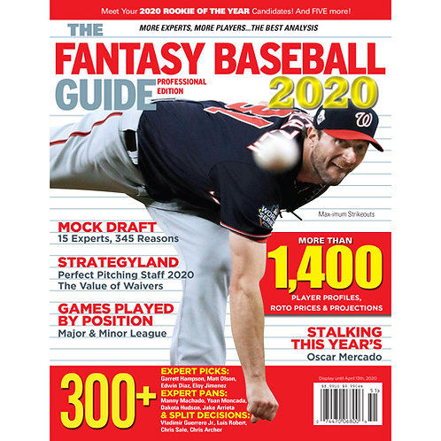 The 2020 Fantasy Baseball Guide: Professional Edition PDF Download