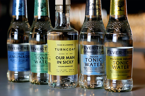 20cl Our Man in Sicily & 4 Fever Tree Tonics
