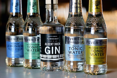 20cl Albert Dock Gin & 4 Fever Tree Tonics