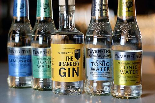 20cl The Orangery Gin & 4 Fever Tree Tonics