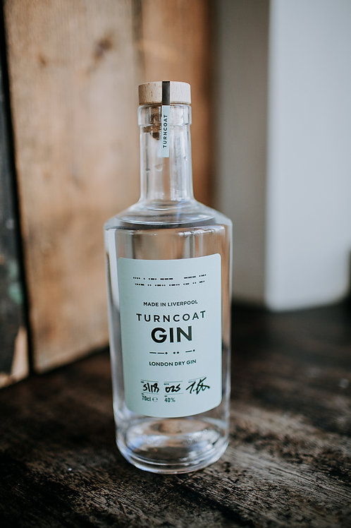 Turncoat London Dry Gin 40% ABV 50cl