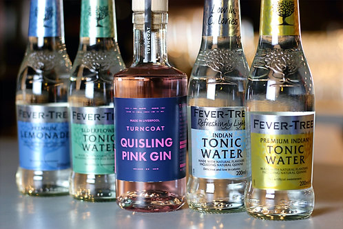 20cl Quisling Pink Gin & 4 Fever Tree Tonics