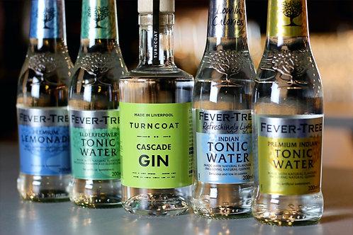 20cl Cascade Gin & 4 Fever Tree Tonics