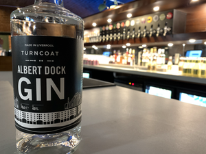 OurAlbert Dock gin, not to be outshined by our 15 craft beer lines lurking in the background!