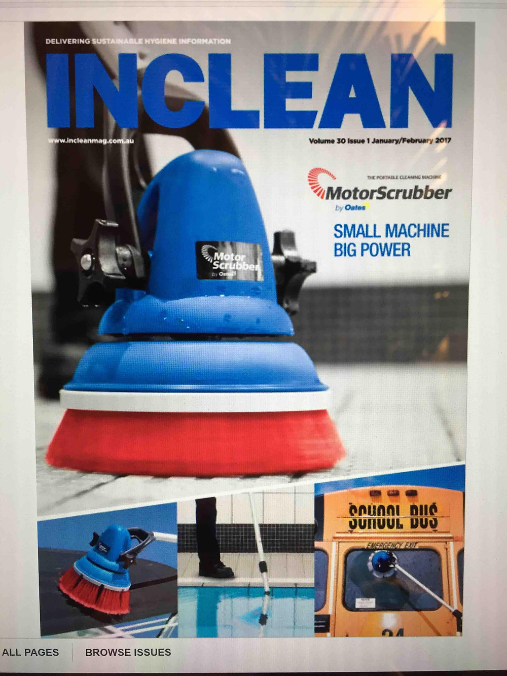 Congrats to our Manufacturer Partner, MotorScrubber! Nothing like making the front cover of INCLEAN Magazine...! Contact your RTF Group Representative for all the exciting detials..!