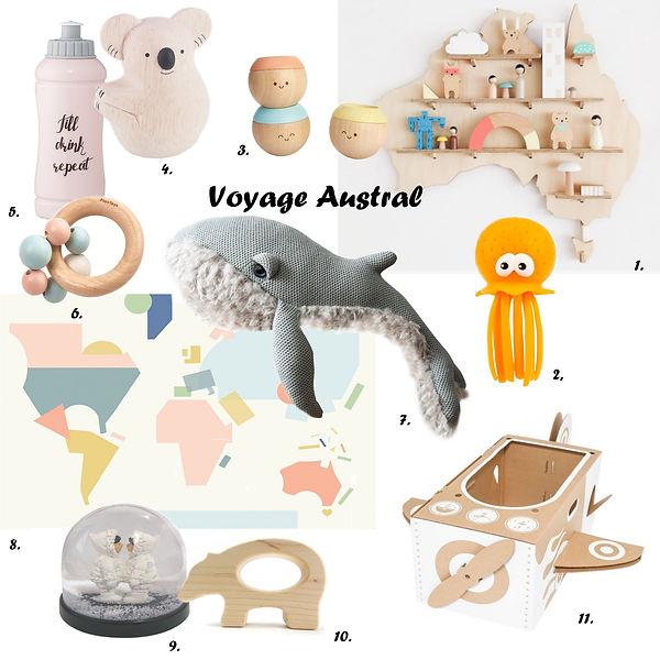Shopping Voyage Austral douceur du bois et pastel