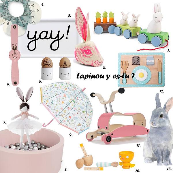Shopping de Pâques lapins