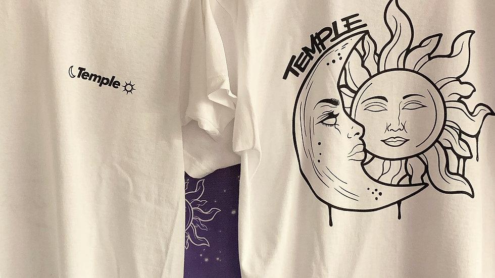 white moon and sun t-shirt