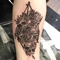Very small tattoo from an illustration o
