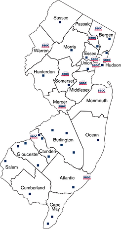 NJ State - NJSBDC Map (Vector) ONLY [Con