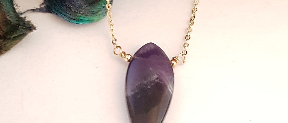 Amethyst marquise pendant