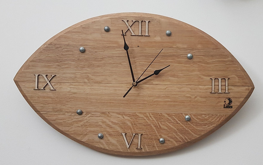 Rugby Style Barrique - Horloge Murale