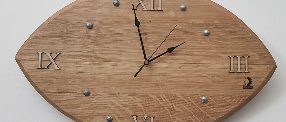 Rugby Style Barrique -Wall Clock