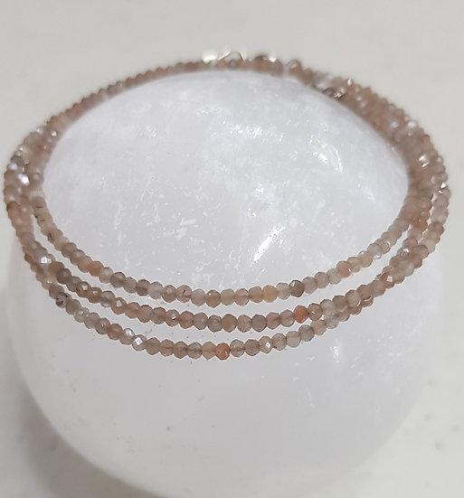 Moonstone (chocolate) Bracelet: single | multi