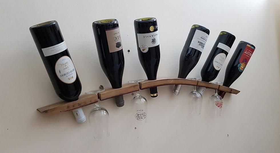 Porte bouteilles & verres murale
