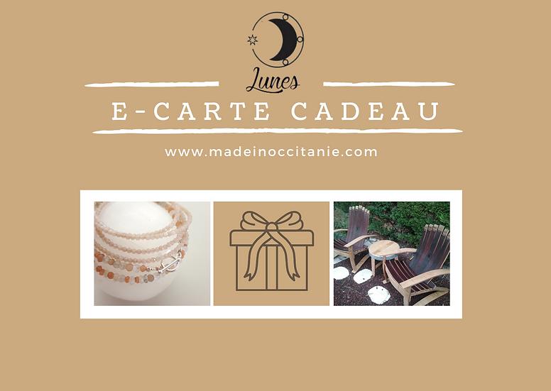 E- Carte Cadeau | E-Gift Voucher