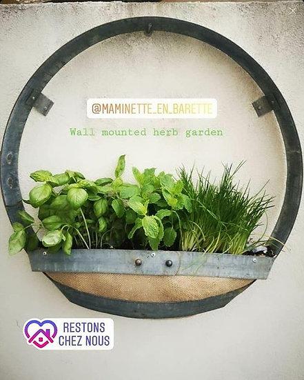 Wall mounted basket
