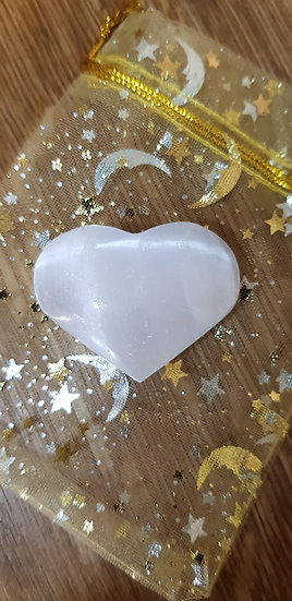 Selenite : heart / coeur