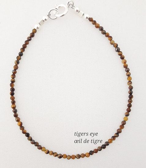 Tigers Eye Bracelet: single | multi