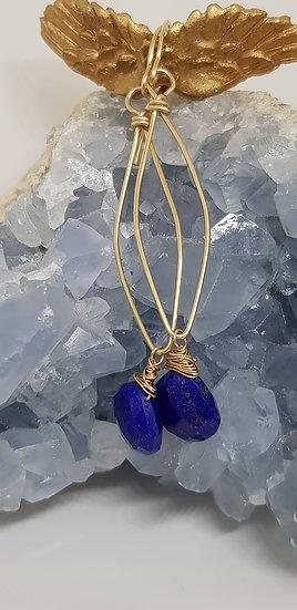 Lapis-Lazuli Boucles d'Oreilles
