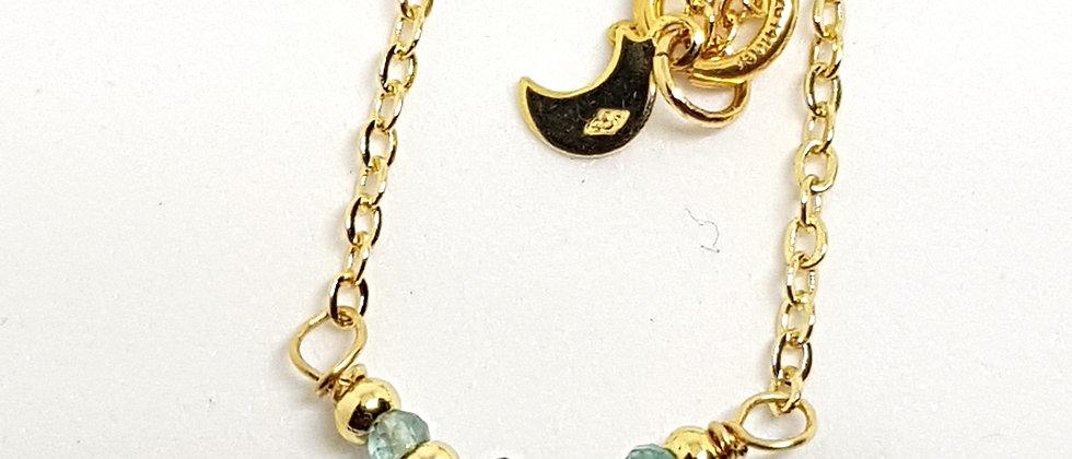 Blue quartz & apatite pendant necklace