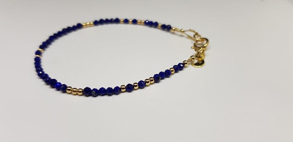 Lapis-Lazuli & Gold Filled Bracelet - Esprit de Lunes