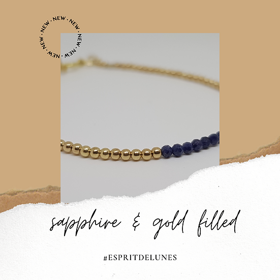 Sapphire & Gold filled