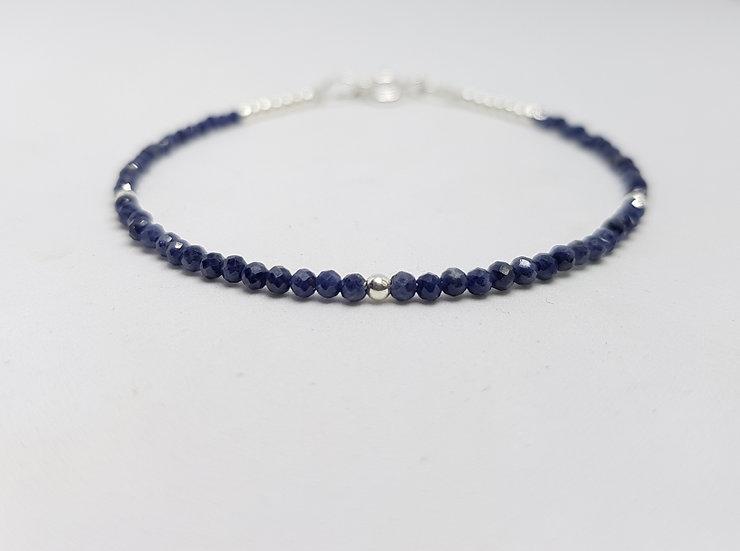 Sapphire & sterling silver bracelet