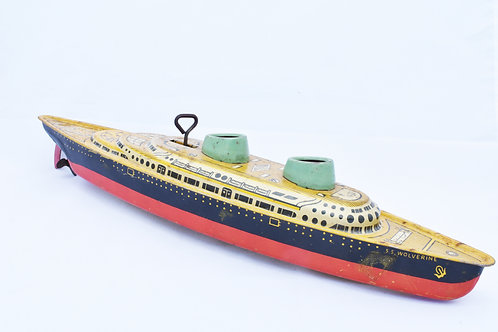 Wolverine Luxary Liner Metal Key Wind Boat