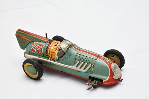 Alps Battery-Operated Metal Race Car #25 with Rear Fin