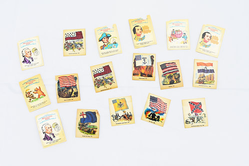 Bicentennial Daze Set of 7 Cards and 10 Stickers