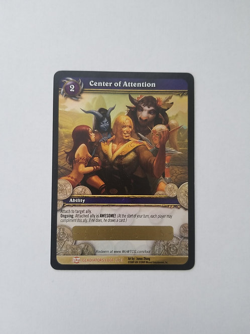 NEW- World of Warcraft Center of Attention Scratch off Card