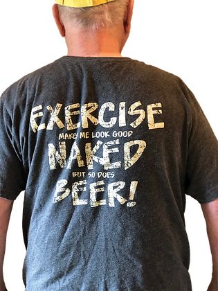 Exercise Naked Beer T-Shirt