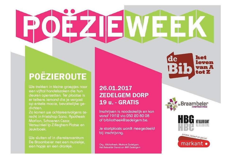 Poëzieweek in Zedelgem