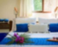 big blue bed