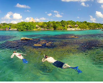 swimming in tulum with soul trips