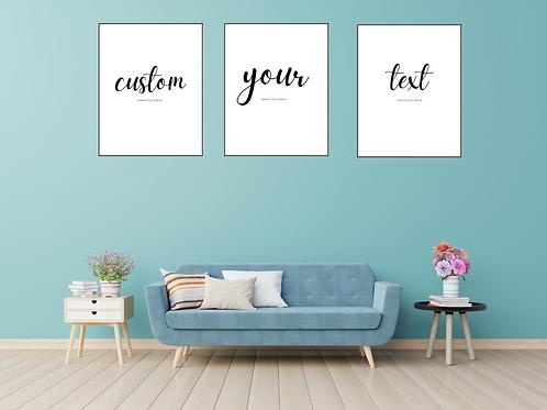 Custom Gallery Wall Set of 3