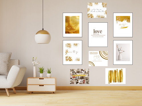 Gallery Wall Set Pack Love (Set of 9)