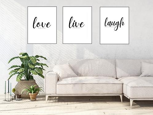 Gallery Wall Set LiveLoveLaugh