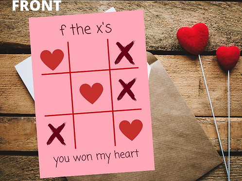 Personalized TicTacToe Valentine's Day Card