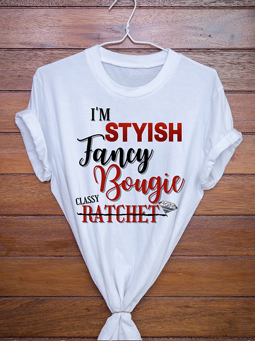 Stylish Fancy Bougie Graphic Tee: DIGITAL DOWNLOAD