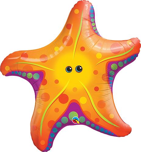 Large Star Fish Foil Balloon