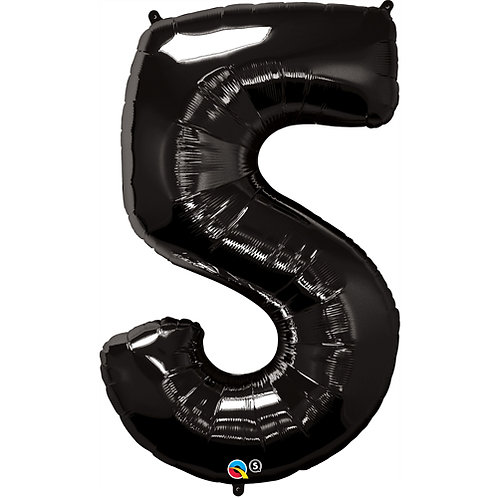 "Black 34"" 0 - 9 Numbers Foil Balloons"