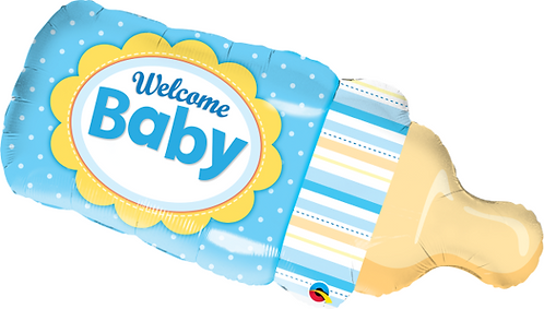 Large Welcome Baby Bottle Boy Foil Balloon