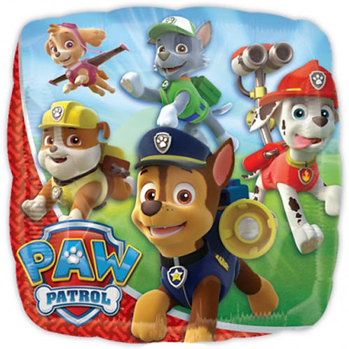 """Paw Patrol 4 18"""" Foil With 2 Latex To Match"""