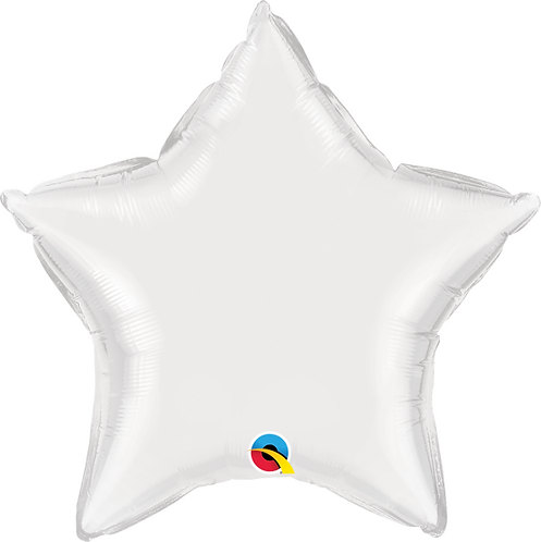 "18"" White Star Foil Balloon"