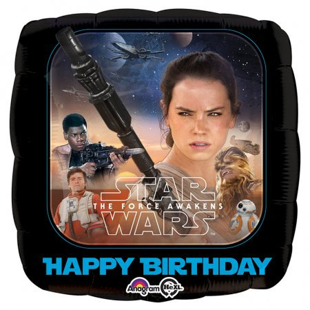 "Star Wars Happy Birthday 18"" Foil With 2 Latex To Match"