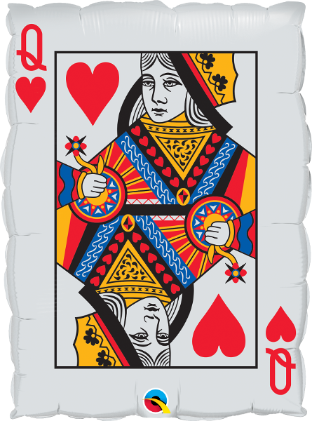 Large Casino Playing Card Foil Balloon
